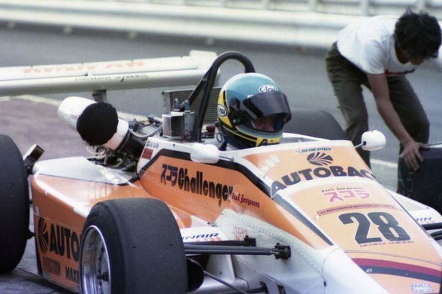 Eje Elgh in the Japanese Formula 2 in 1984