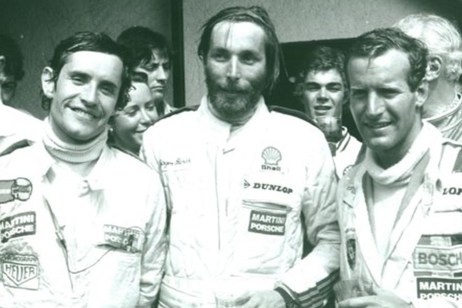 1977 Le Mans winners Jacky Ickx, Jürgen Barth and Hurley Haywood