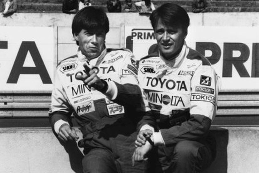 Tiff Needell and Eje Elgh pictured in 1987