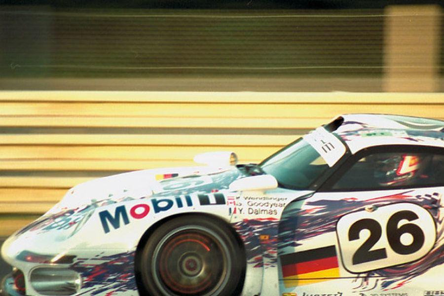 Scott Goodyear reached 1996 Le Mans podium in the #26 Porsche 911 GT1