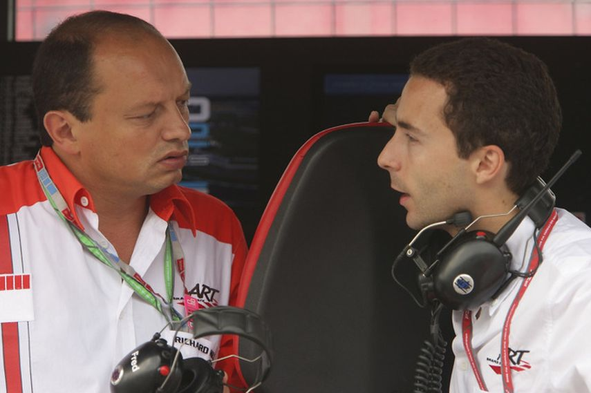 Frederic Vasseur and Nicolas Todt in 2006