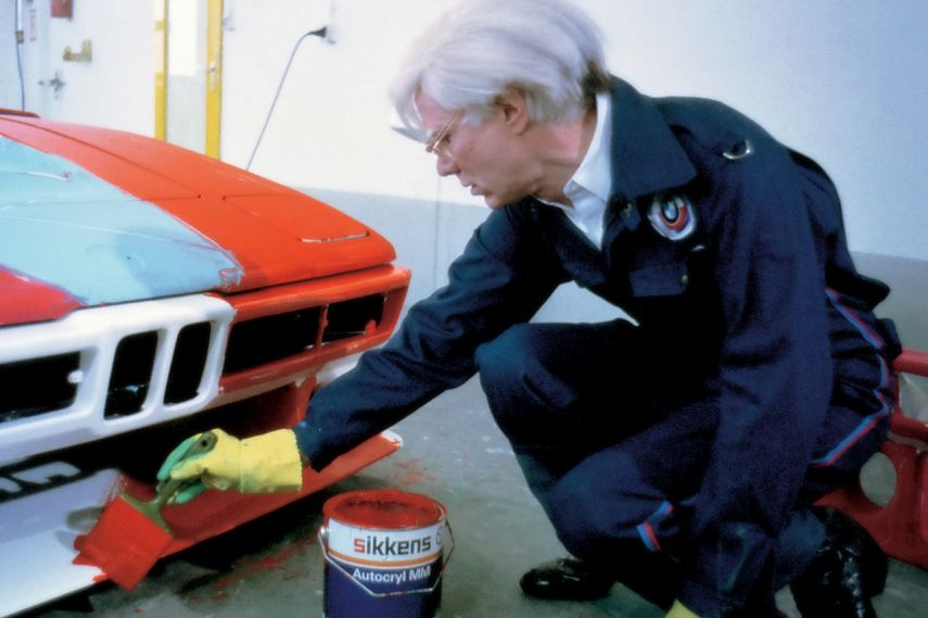Andy Warhol painting the BMW Art Car