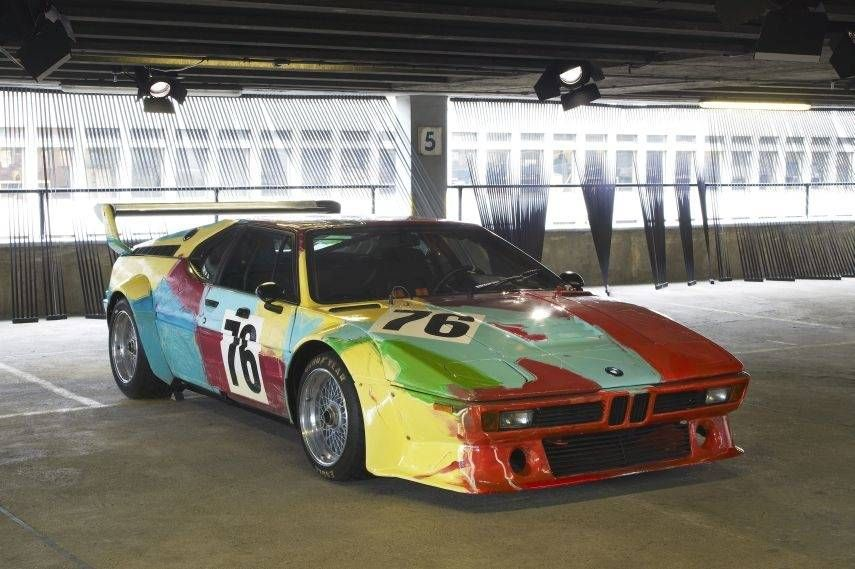 BMW Art Car collection, 1979 BMW M1 by Andy Warhol