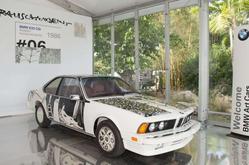 BMW Art Car Collection, Robert Rauschenberg, 1986 BMW 635 CSi