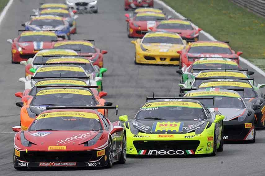 Ferrari Challenge Europe race at Monza