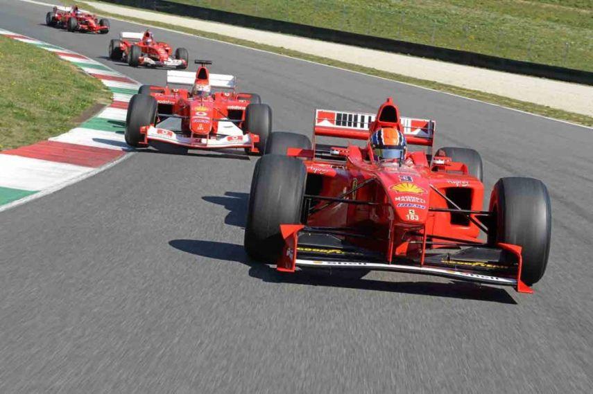 Ferrari, F1 racing at Mugello