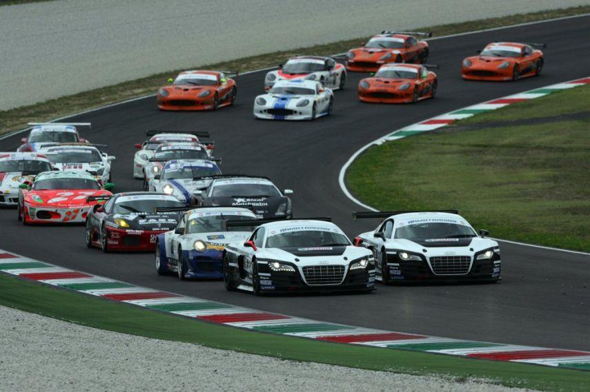 GT Cars racing at Autodromo Internazionale del Mugello, Mugello Circuit
