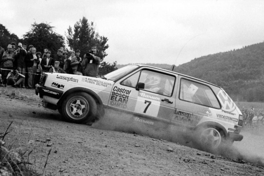 Raimund Baumschlager at 1989 Barum Rally