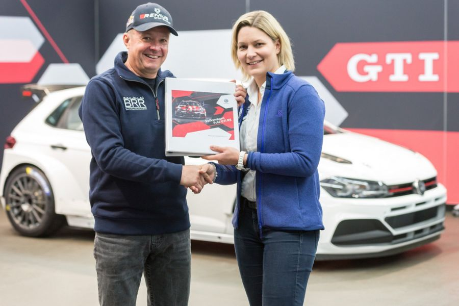 Raimund Baumschlager is the first buyer of brand new VW Polo GTI R5