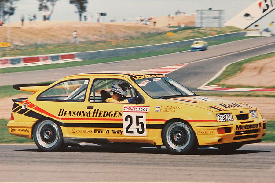 The #25 Benson & Hedges Ford Sierra RS500 of Tony Longhurst and Tomas Mezera at 1988 Bathurst 1000