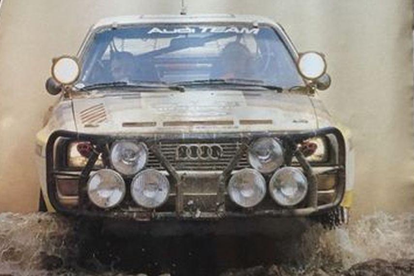 year 1984 Stig Blomqvist, Audi Sport Quattro, Ivory Coast, classic speed drive