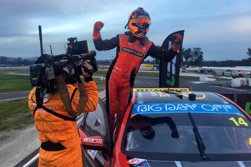 Tim Slade, Winton Supersprint, V8 Supercars, celebrating
