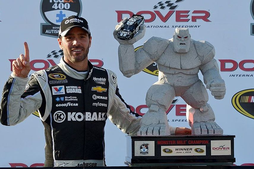 Jimmie Johnson, Monster Mile record, 10 wins