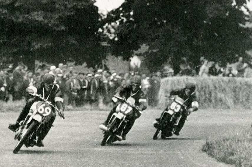 Hockenheimring, 1936, driving motor cycle race, historic