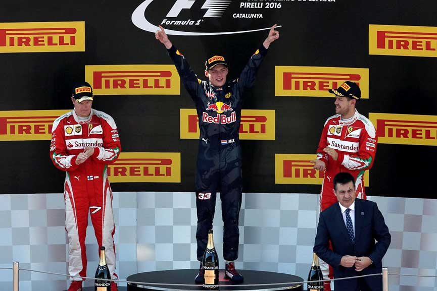 Max Verstappen podium