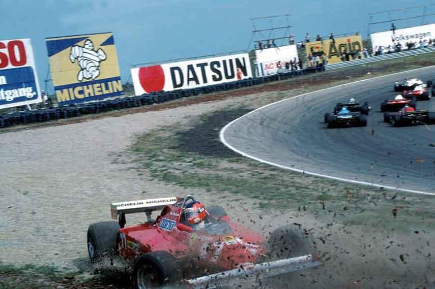 Gilles Villeneuve 1981 Dutch Grand Prix Zandvoort track circuit park facebook cars