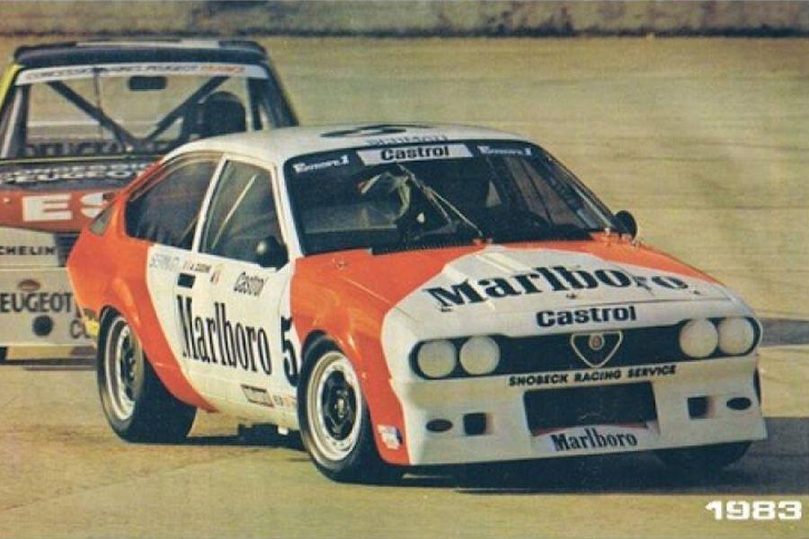 Alain Cudini's championship-winning Alfa Romeo GTV6 in 1983