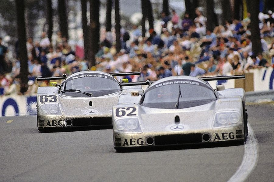 Alain Cudini was driving the #62 Sauber C9 at 1989 Le Mans 24 Hours