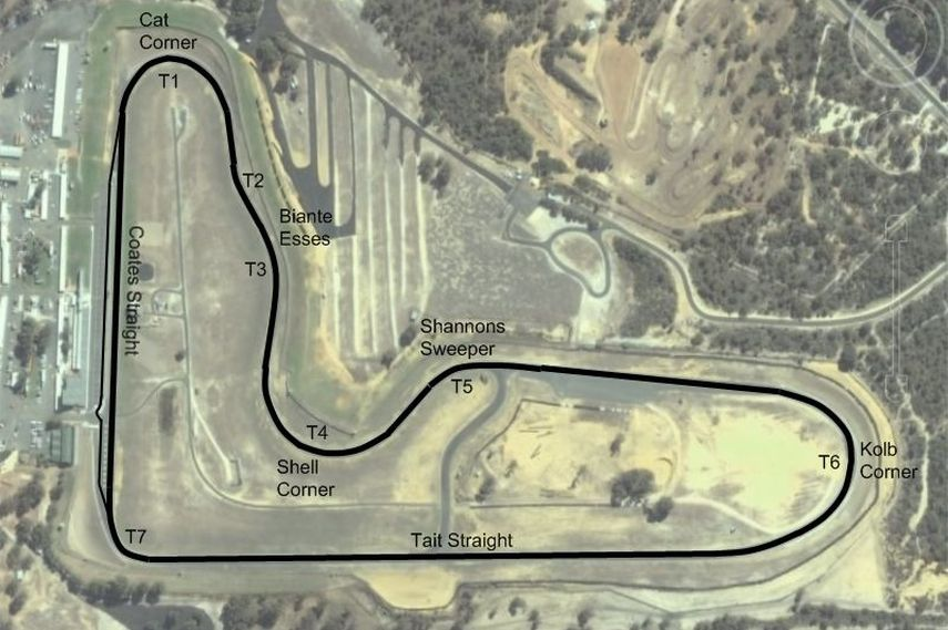 Barbagallo raceway Wanneroo opened 1969, 2016 V8 Supercars and other car and motorcycle racing events, barbagallo race track