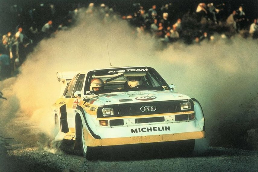 Walter Röhrl, Audi Sport Quattro S1,1985 Rally San Remo