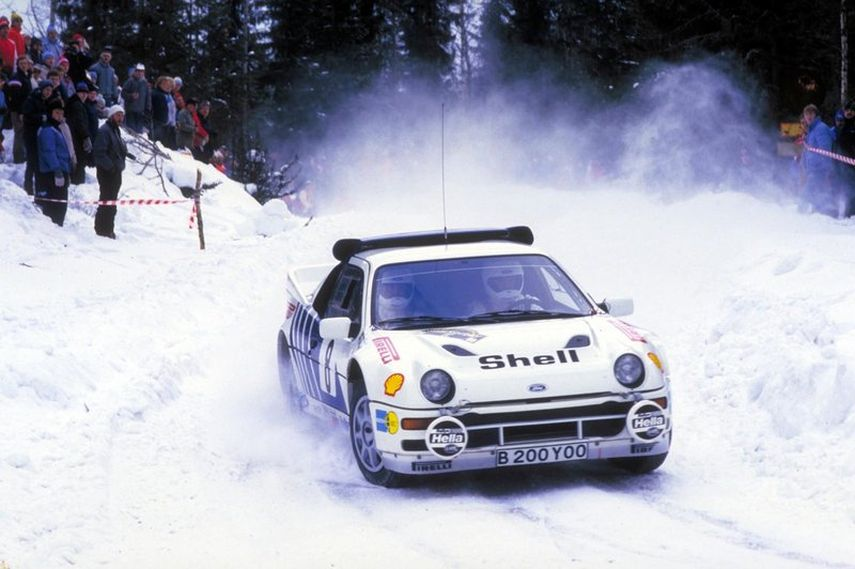 Kalle Grundel, Ford RS200, 1986 Swedish Rally