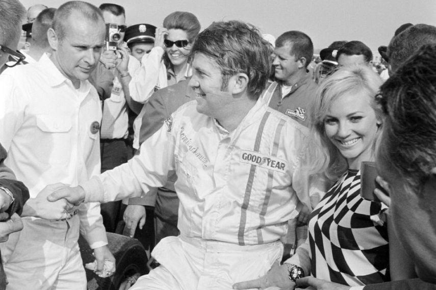 Ronnie Bucknum, first race at Michigan International Speedway in 1968.