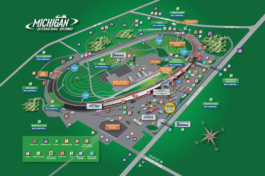 3D layout of the Michigan International Speedway
