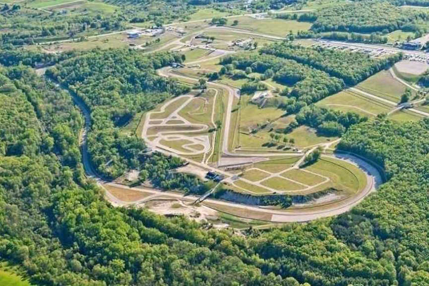 Aerial view of Road America