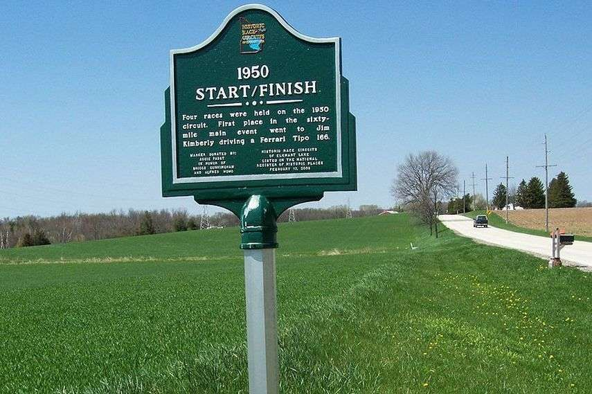 Road America, Wisconsin, start/finish sign