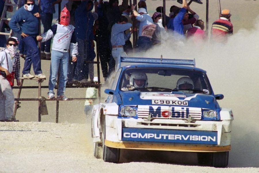 Tony Pond's MG Metro 6R4 at 1986 Rallye sanremo