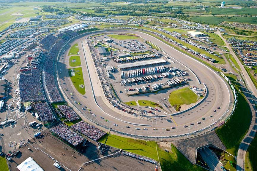 Iowa Speedway 2017 view corn fan 250 account day