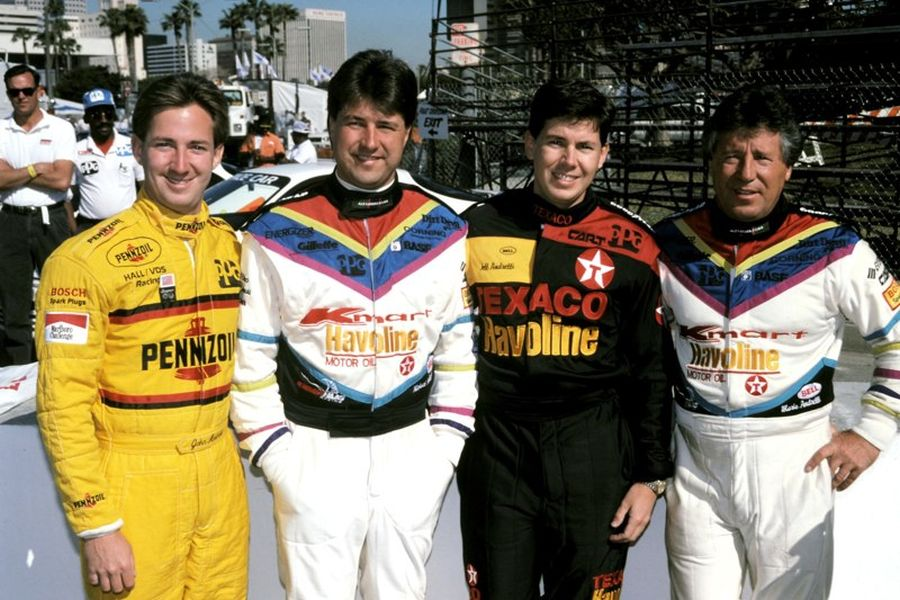 Andretti racing family: John, Michael, Jeff and Mario