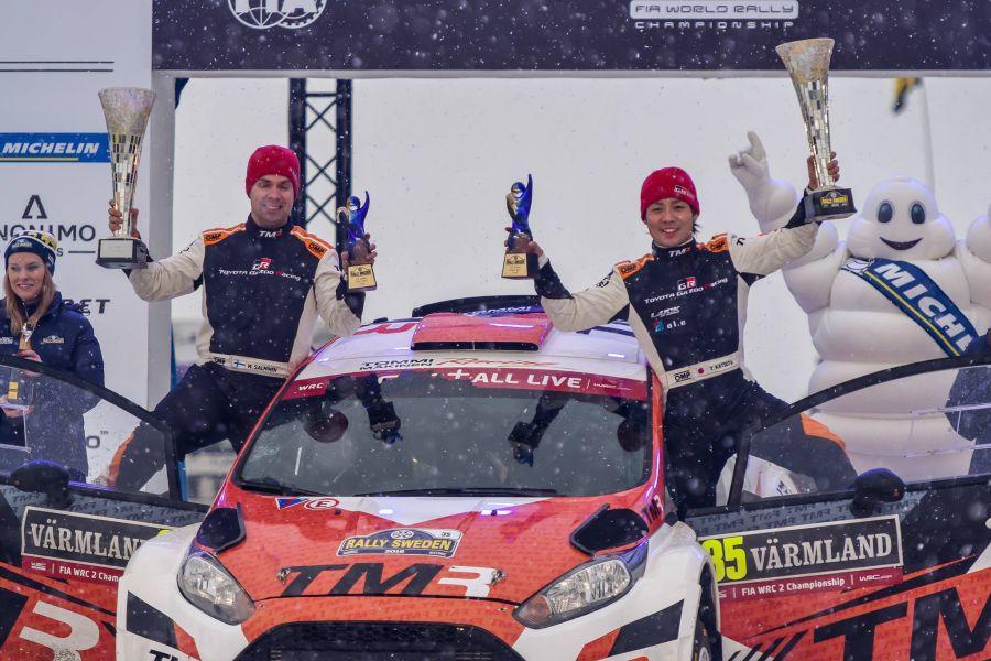 Takamoto Katsuta, Marko Salminen, 2018 Rally Sweden