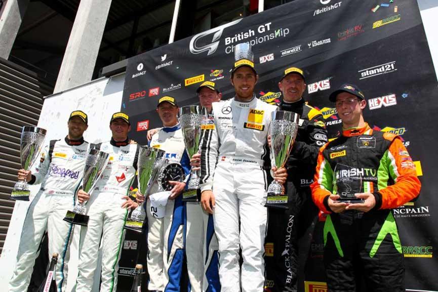 British GT podium Spa