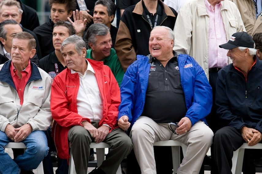 Indy Car legends: Bobby Unser, Al Unser, AJ Foyt, Rick Mears