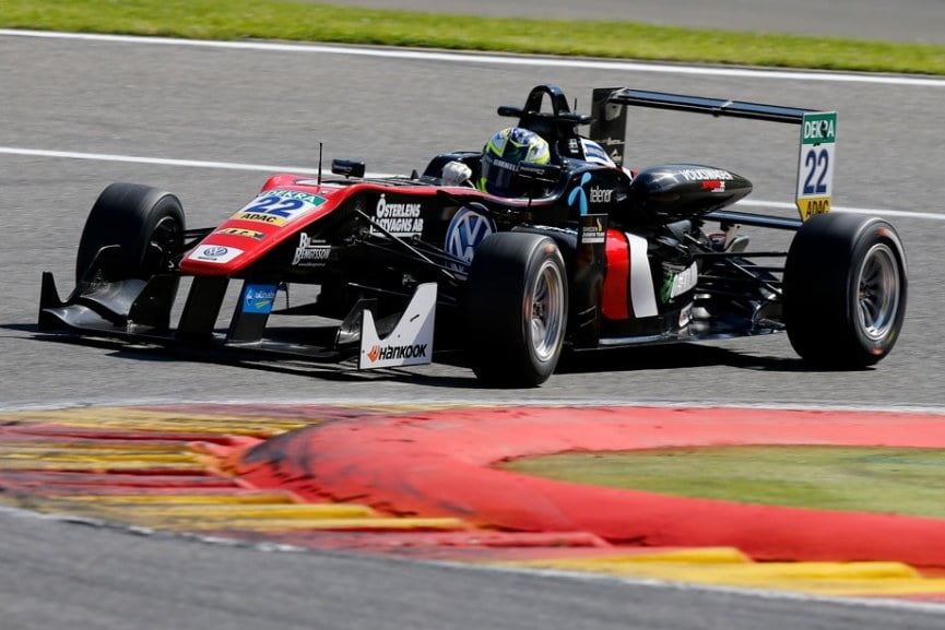 Joel Eriksson, Formula 3, Spa