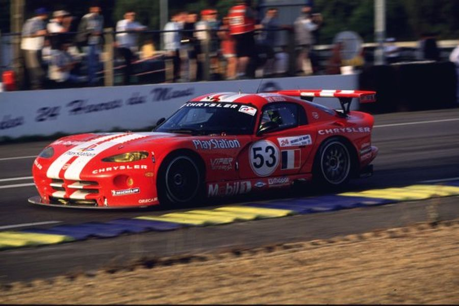 Anthony Beltoise was driving the #53 Chrysler Viper GTS-R at 2000 Le Mans 24 Hours