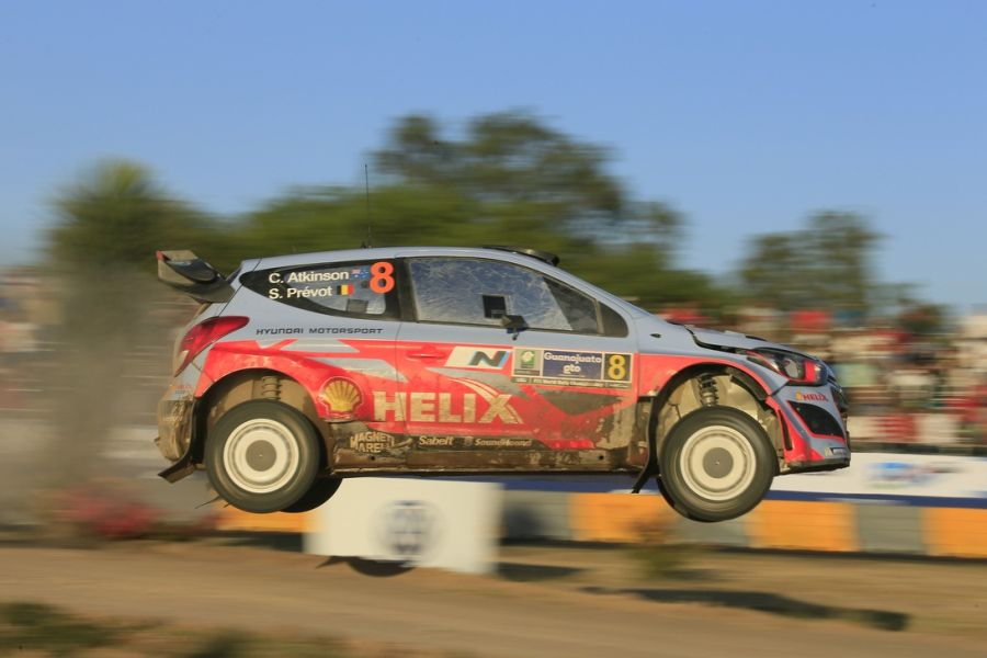 In 2014, Atko participated in two WRC events with Hyundai