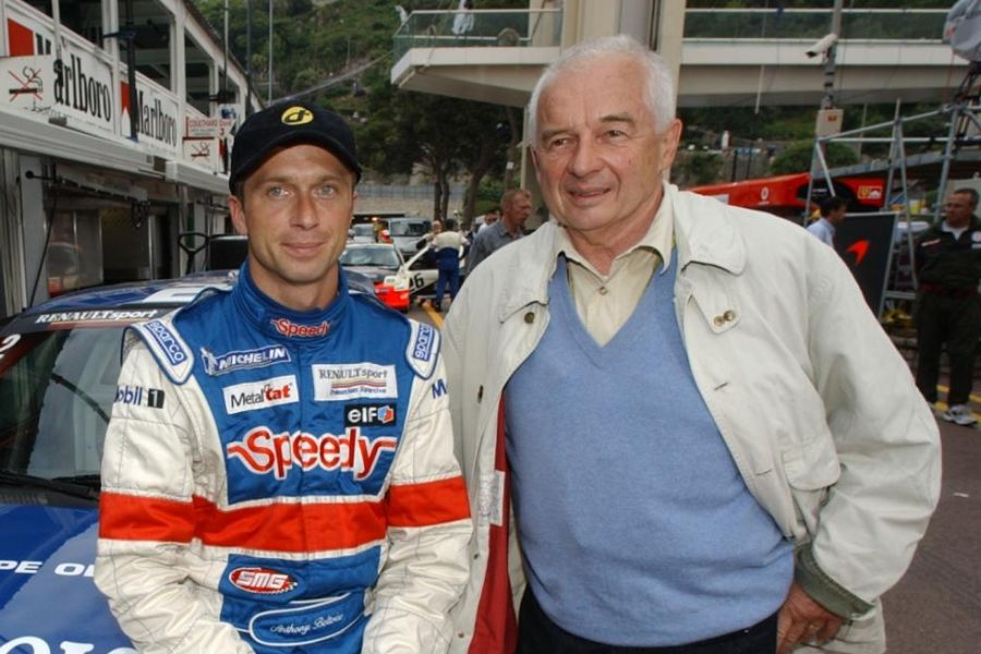Anthony Beltoise with his father Jean-Pierre, who died in 2015