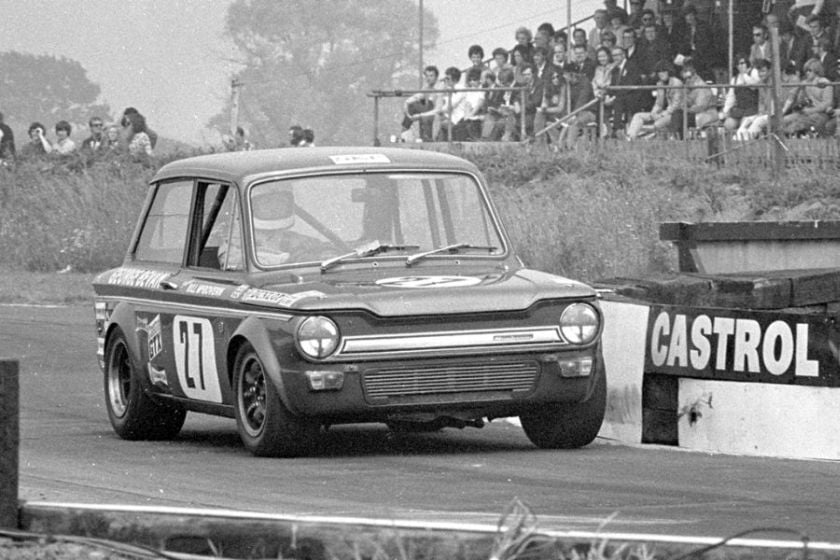Bill McGovern in George Bevan's Hillman Imp