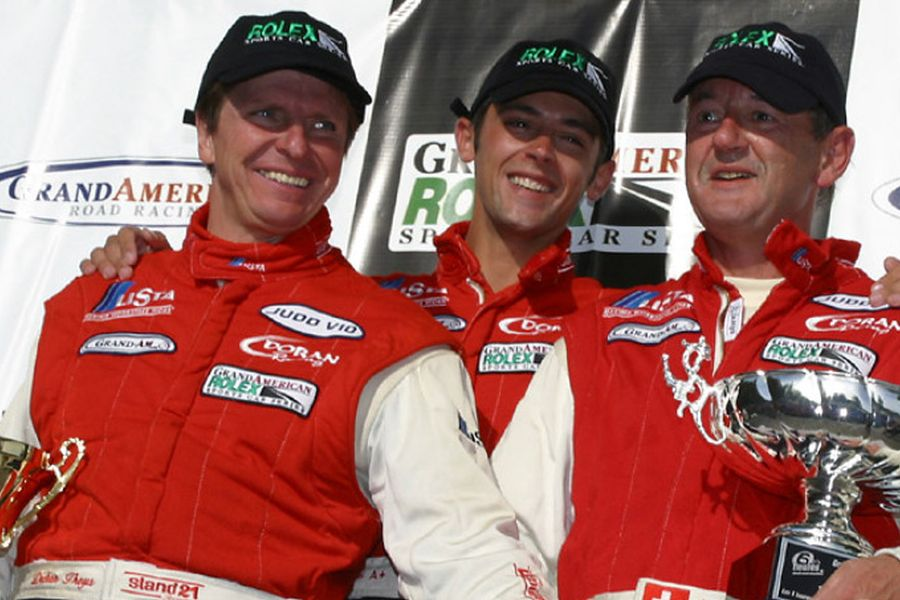 Didier Theys (left) with his teammates in 2002