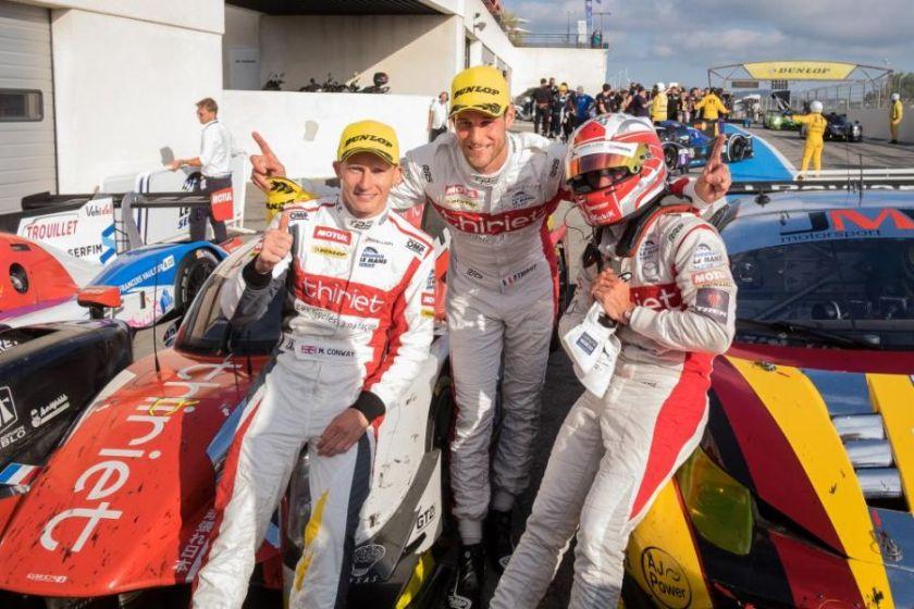 #46 Thiriet by TDS Racing crew: Conway, Thiriet, Beche