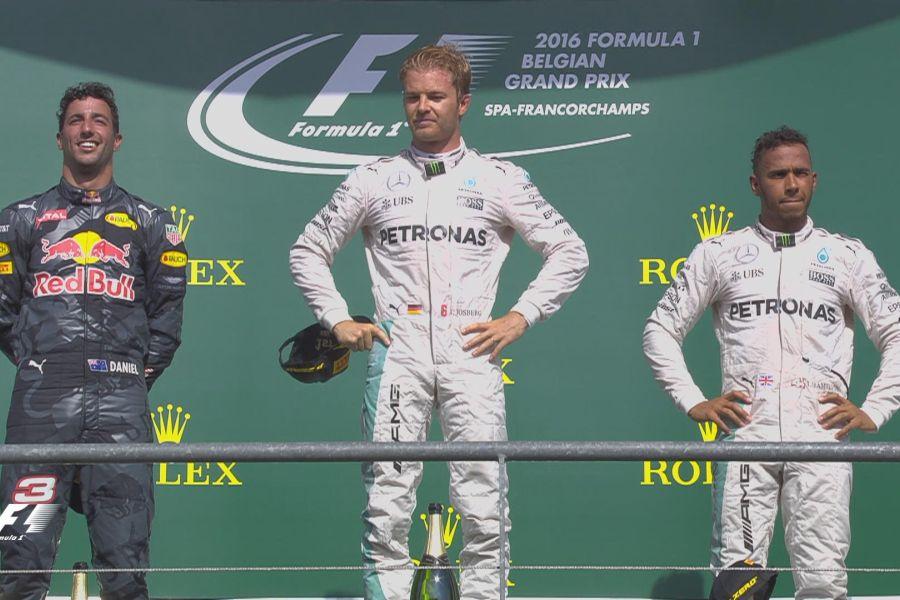 2016 Belgian Grand Prix podium
