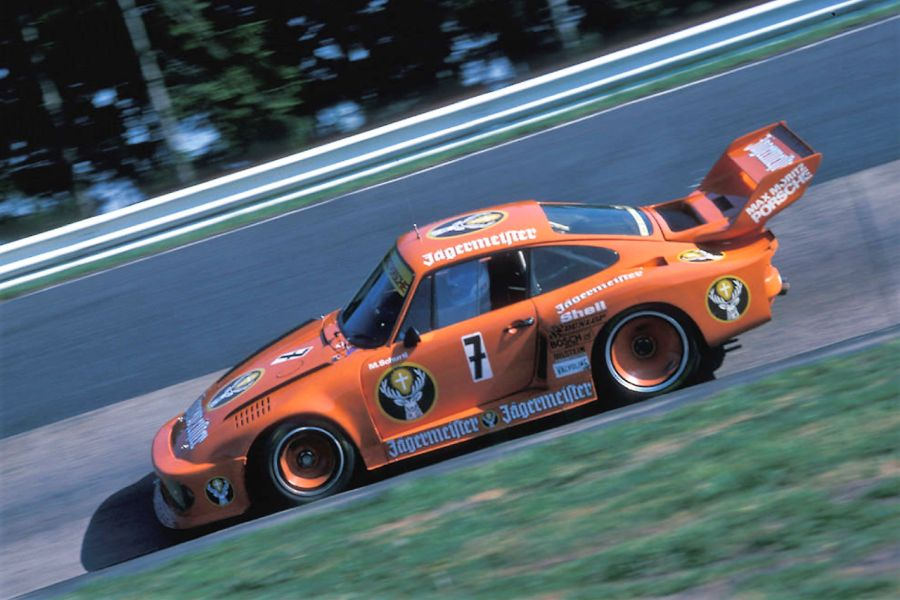 Manfred schurti was driving Jägermeister Porsche 935 in the German Racing Championship (DRM)