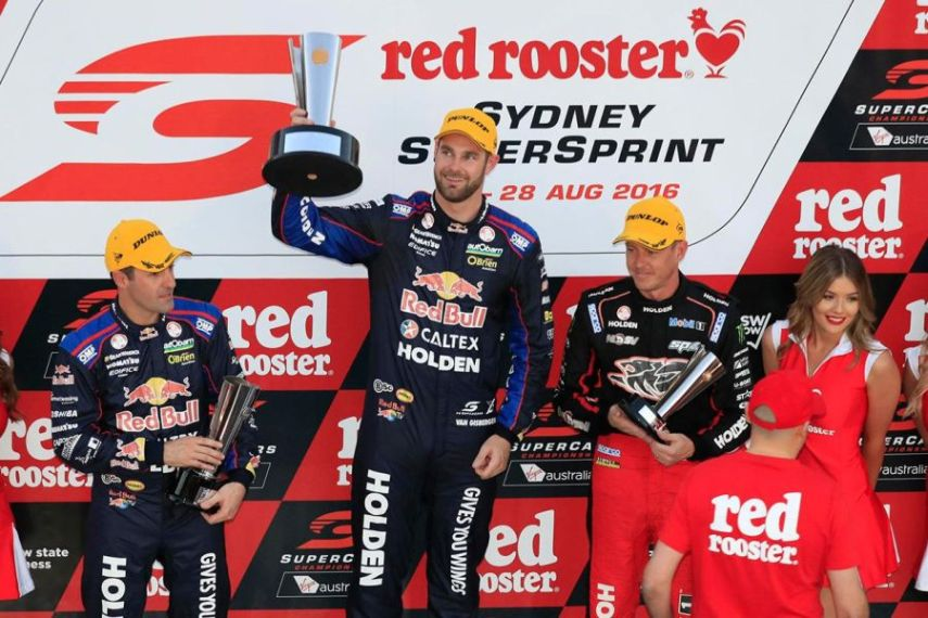 Sydney SuperSprint Race 18 podium