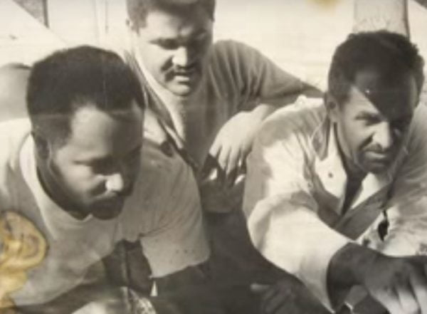 Wendell Scott with the team