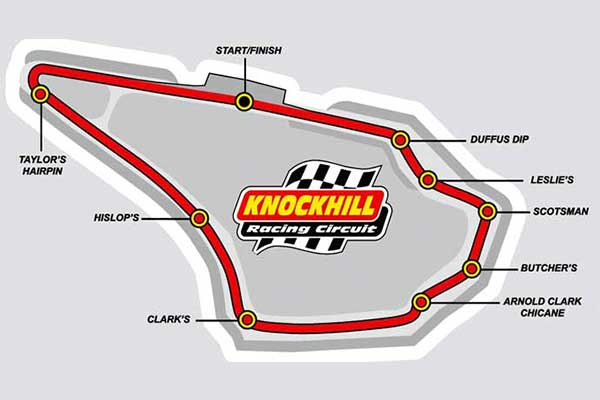 Knockhill Racing Circuit map/track layout