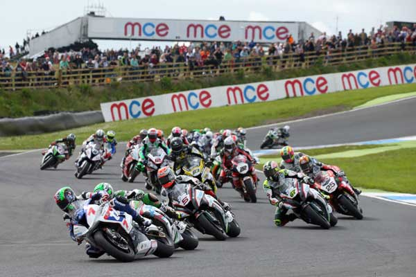 Superbike race at Knockhill