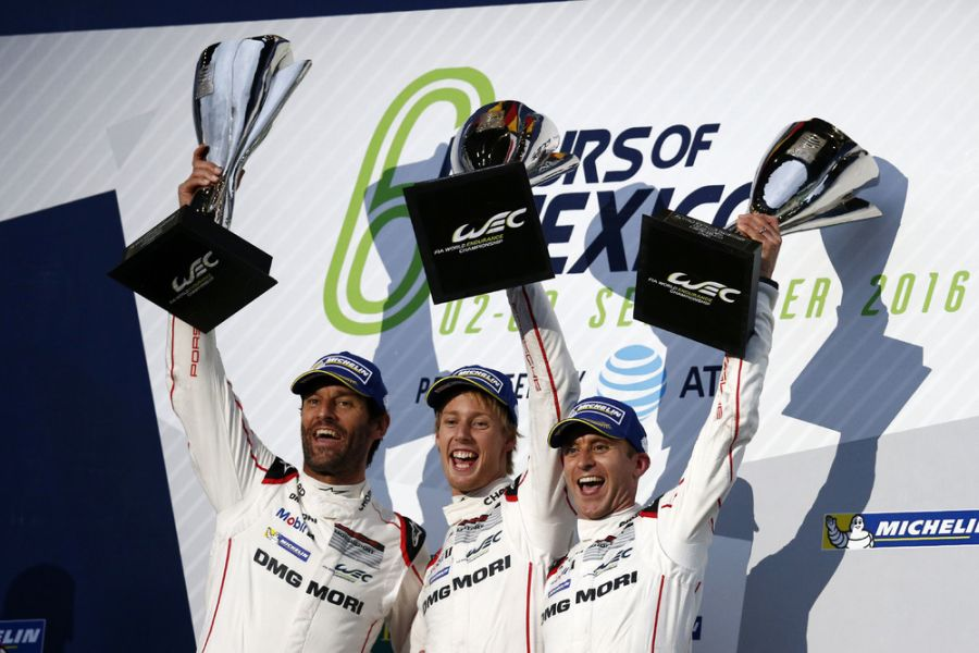 Webber, Hartley and Bernhard, Mexico, WEC 2016