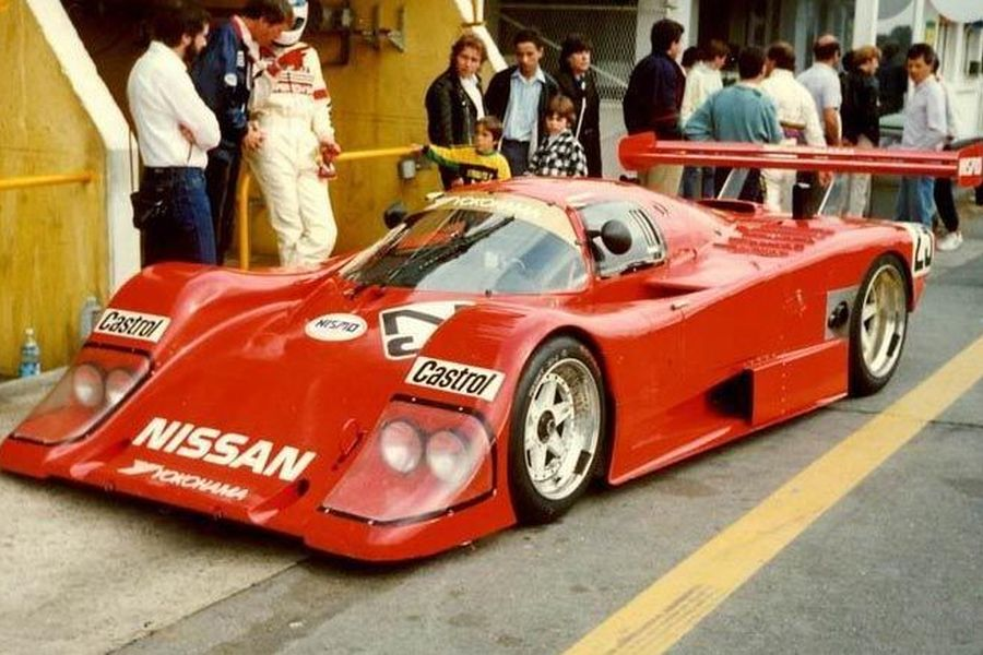 Anders Olofsson's car in his Le Mans debut in 1987